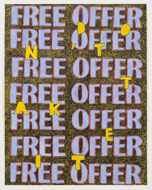 , 'Free Offer (Study),' 2017, Fleisher/Ollman