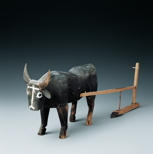 , 'Wooden ox and plow ,' 206 BC -220 AD, Musée national des arts asiatiques - Guimet