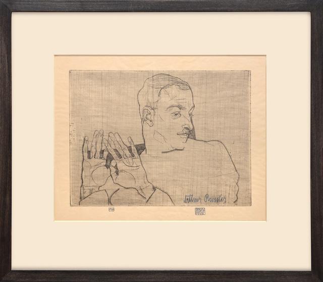 , 'Bildnis Arthur Roessler. (Portrait of Arthur Roessler.),' 1914, Peter Harrington Gallery