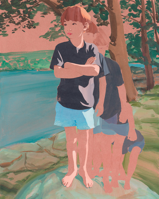 , 'Sandy Getting into Position,' 2015, De Buck Gallery