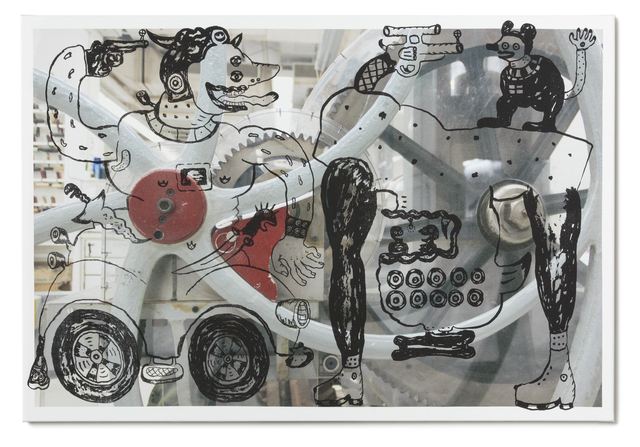 , 'The Hunter With Upside Down Creatures in the Machine,' 2015, STPI