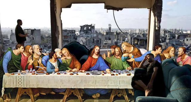 , 'The last Supper Leonardo Da Vinci in Gaza,' 2017, Shababek