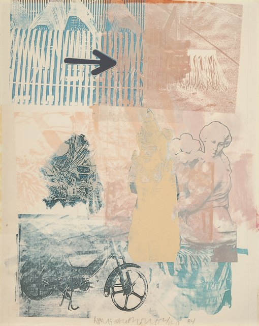 Robert Rauschenberg, 'Untitled', 1984, Print, Offset lithograph in colors on wove paper, Heritage Auctions