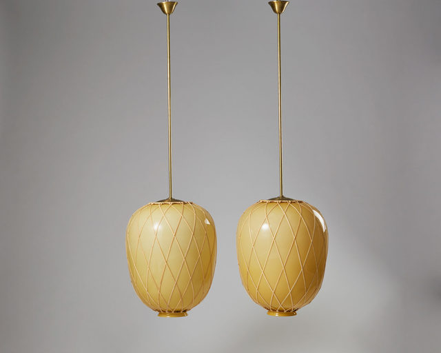 , 'Pair of ceiling lamps,' 1920-1929, Modernity