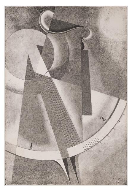 , 'Heliographic composition with a scale XXXVII,' 1939, Olszewski Gallery