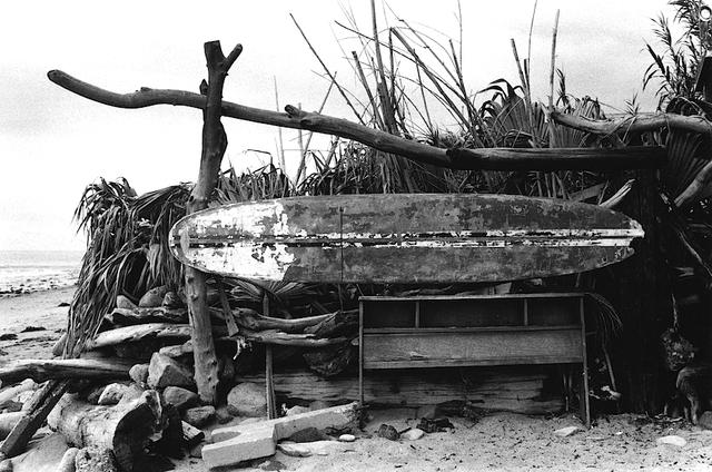 Anthony Friedkin, 'Old Surfboard, Topanga Beach', 1977,  LA County Historical Society