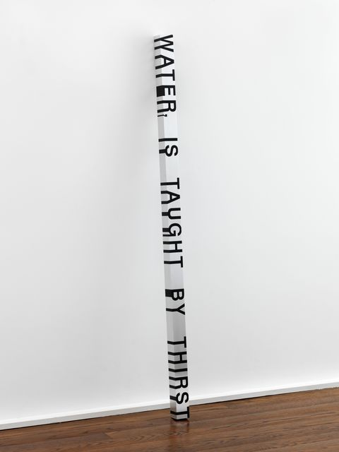 , 'Key and Cue, No. 135 (WATER, IS TAUGHT),' 1994/2007, Hauser & Wirth