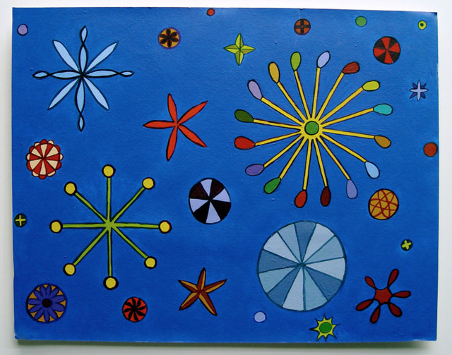 Tom Nussbaum, 'Blue', 2002, Painting, Acrylic on mat board, Octavia Art Gallery