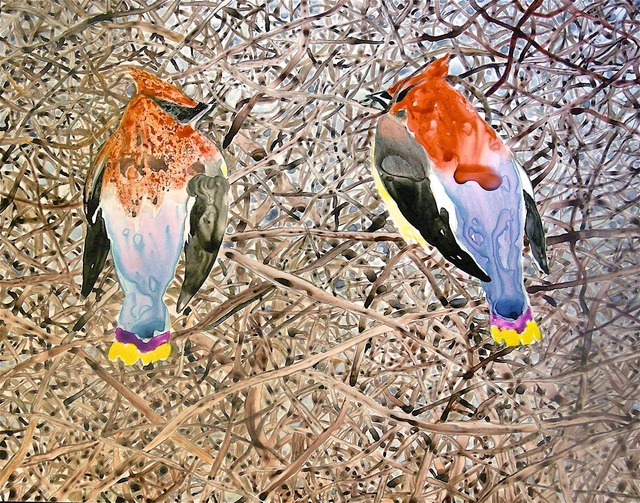 , 'Wet Waxwings,' 2009, Walter Wickiser Gallery