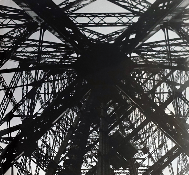 Lucien Hervé, 'Eiffel Tower', 1949, Photography, Vintage silver gelatin print, cropped to size by  the artist, Michael Hoppen Gallery