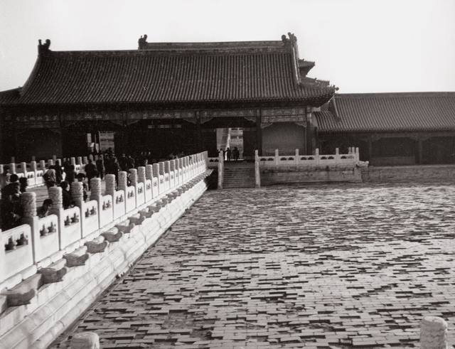 Andy Warhol, 'Eight works: (i) Two Women; (ii) Young Woman at Great Wall; (iii) Great Wall; (iv) Temple; (v) The Great Wall of China; (vi) Unidentified Woman; (vii) Young Man and Woman at Great Wall; (viii) Bicycle', 1982, Photography, Eight gelatin silver prints, Phillips