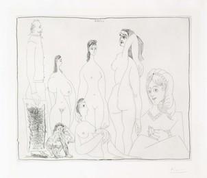 Peintre longiline avec des femmes, dont une petite pisseuse, from La Série 347