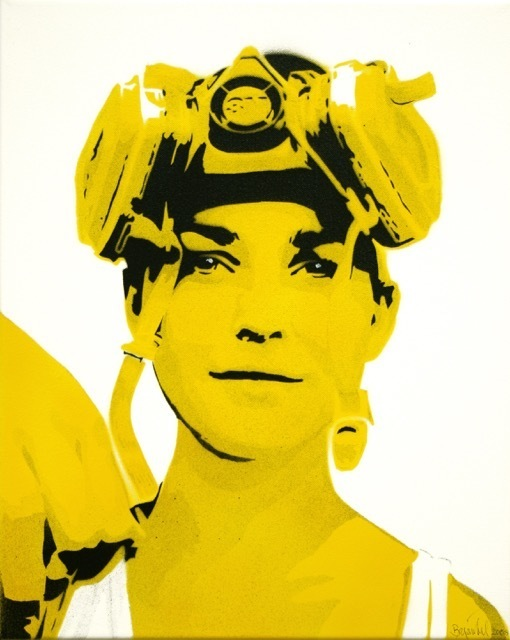 Bananensprayer Thomas Baumgärtel, 'Lara', 2008, Galerie Kronsbein