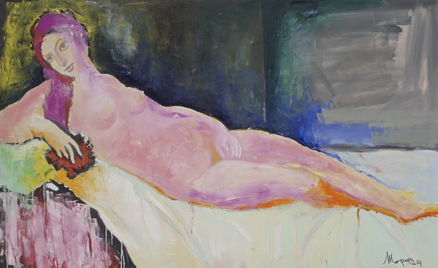 , 'Reclining in Magenta,' , Salamatina Gallery