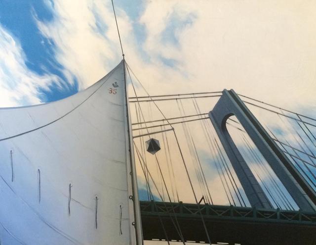 Lowell Nesbitt, 'Sailing Under the Verazanno Bridge', 1975, Cross Gate Gallery