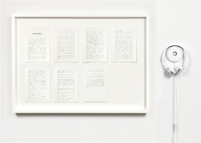 Jane Benson, 'Signs & Symbols', 2017, Mixed Media, Archival ink on paper and headphones, The Kitchen
