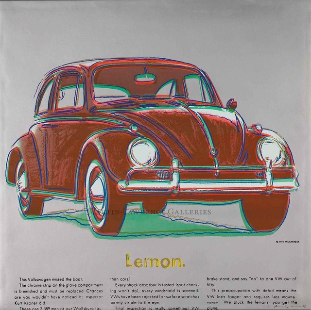 Andy Warhol, 'Volkswagen, 1985 (#358, Ads) ', 1985, Martin Lawrence Galleries