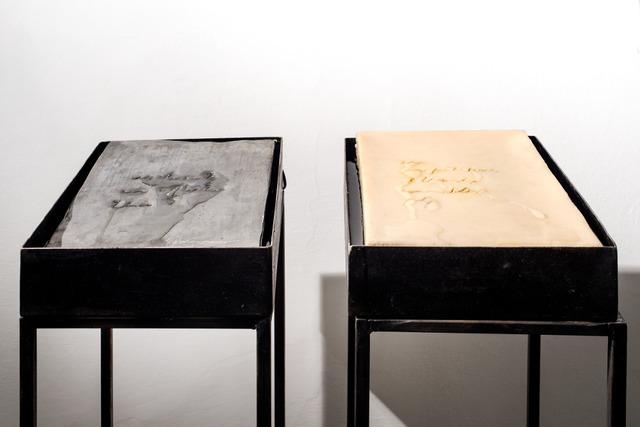 Gregorio Botta, 'Emily Dickinson series', 2015, Installation, Iron, lead, wax, water, electric pump, Montoro12 Contemporary Art