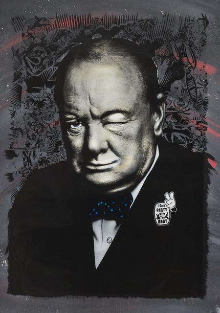 , 'Winkin' Churchill,' 2017, Jonathan LeVine Projects