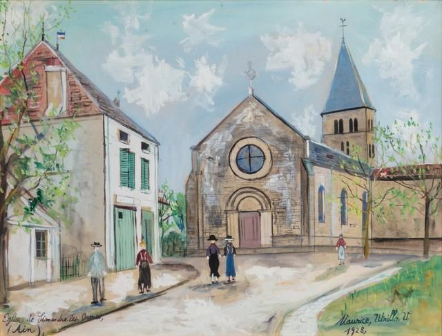 Maurice Utrillo, 'Eglise de Simandre les-ormes (Ain)', 1948, Finarte
