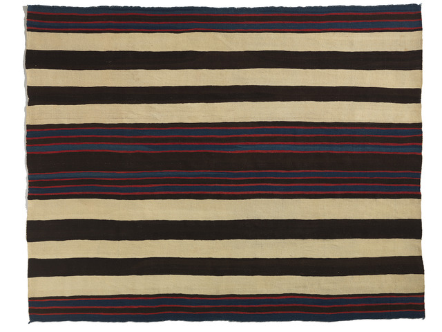 , 'Bayeta First Phase Chief's Blanket,' ca. 1840, Donald Ellis Gallery