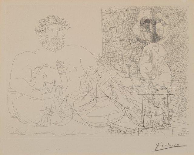 Pablo Picasso, 'Sculpteur et son modèle avec un buste sur une colonne', 1933, Heritage Auctions