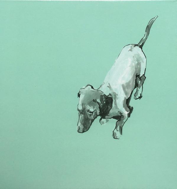 , 'Dachshund in duck egg green,' 2016, Dog & Horse Fine Art