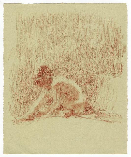 , 'Model with Head on Knee,' 2011, Paul Thiebaud Gallery