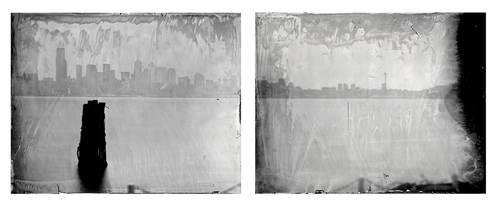 """Ian Ruhter - """"The Farm"""", 2013, Original wet plate collodion, Tintype, 34"""" x 42"""", diptych"""