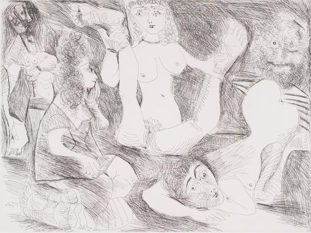 Pablo Picasso, 'Bain de Minuit, femmes surprises par un marin hilare', 1971, Capsule Gallery Auction