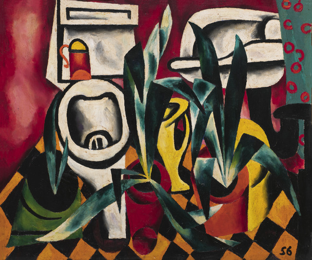 , 'Flush toilet and agaves,' 1956, Vladey