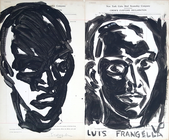 , 'Rostro blanco y negro (Black and white face),' 1987, Cosmocosa