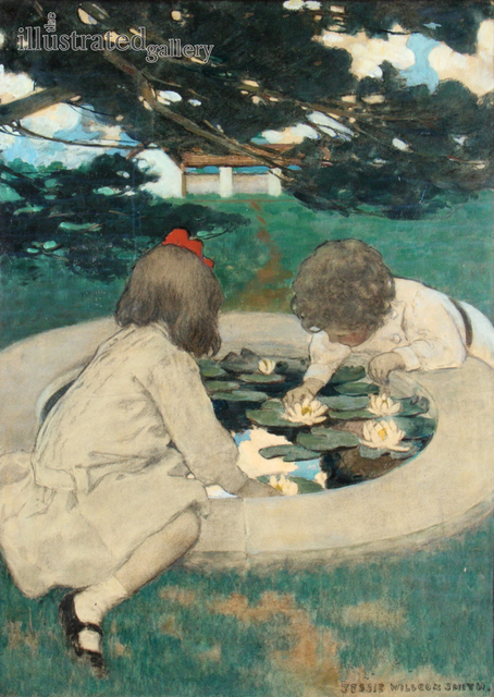 JESSIE WILLCOX SMITH, 'The Lily Pool', 1903, The Illustrated Gallery