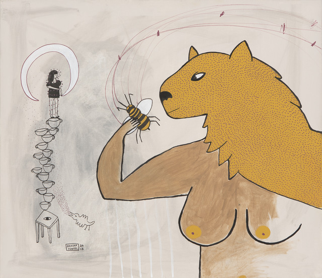 ", '""KURDUN ARIYLA KARŞILAŞMASI"" // ""THE GREETING OF THE WOLF WITH THE BEE"",' 2013, Art Next Istanbul"