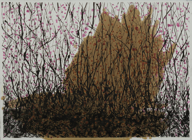 Jay Carrier, 'In The Woods There Is Something That Is Not Nice', 2015, Painting, Mixed Media on Paper, Eleven Twenty Projects