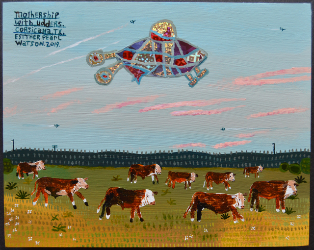 Esther Pearl Watson, 'Mothership With Udders', 2019, Webb Gallery