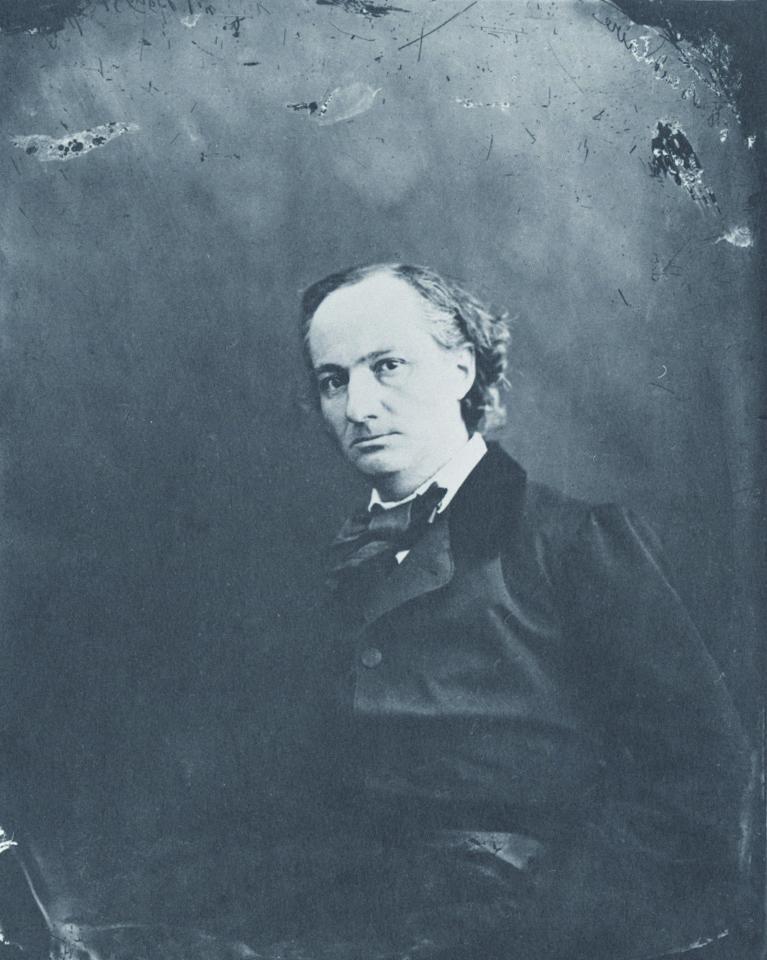 NADAR (Gaspar-Felix Tournachon) (1820-1910)  Charles Baudelaire / ca.1856 (1978 Print) / salted paper print / 27.0×21.0cm / Yokohama Museum of Art