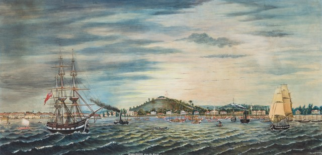 , 'Panoramic View of Singapore from the Harbour,' 1849, National Gallery Singapore