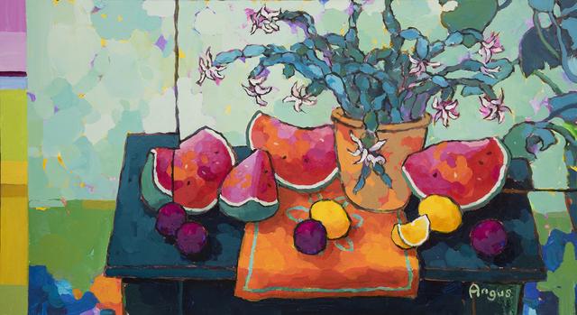 , 'Flowering Cacti With Watermelon Segments,' 2019, Ventana Fine Art