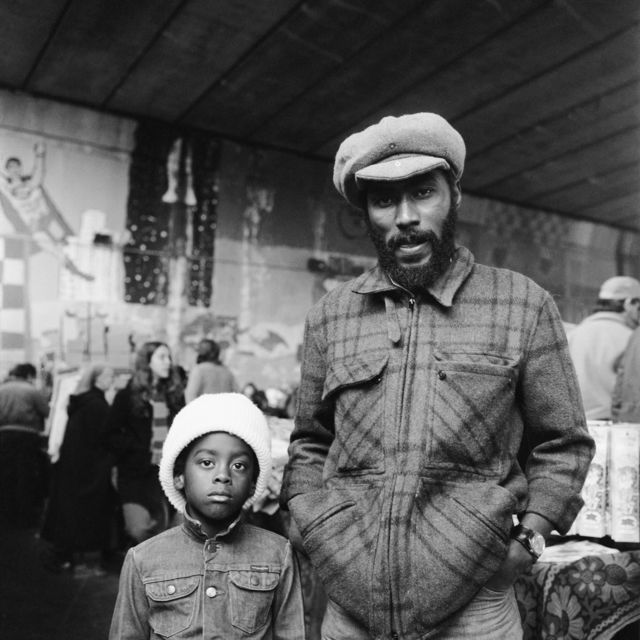 , 'George and his Son, Marlin, Acklam Road,' ca. 1972, Huxley-Parlour