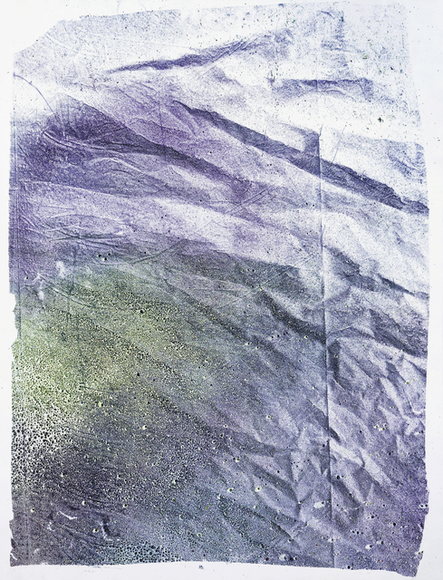 , 'Residual Monoprint 1(Purple and Yellow),' 2016, Fleisher/Ollman