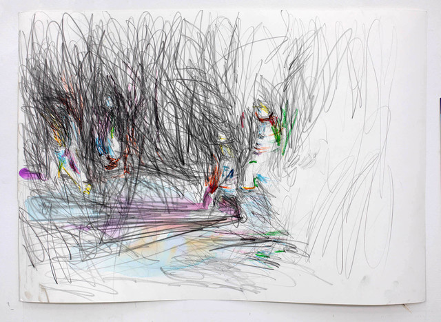 Martin Dammann, 'Suchen 4', 2018, Drawing, Collage or other Work on Paper, Pencil, oil pastel and watercolor on paper, In Situ - Fabienne Leclerc