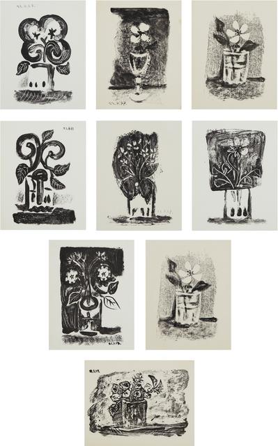 Pablo Picasso, 'Le petit pot de fleurs (Small Pot of Flowers); and Fleurs dans un verre (Flowers in a Glass) Nos. 1-7', 1947, Phillips