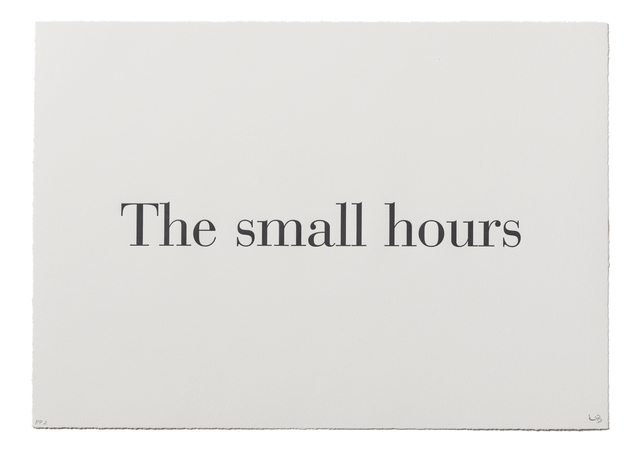 ", '""The Small Hours"" from ""What is the Shape of this Problem?"",' 1999, Burning in Water"