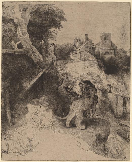 Rembrandt van Rijn, 'Saint Jerome Reading in an Italian Landscape', ca. 1653, National Gallery of Art, Washington, D.C.