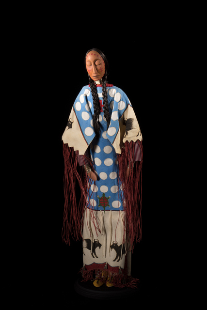 """, 'Southern-style or Arapaho-style Ghost Dance doll. H 20"""", 1998,' 1998, John Molloy Gallery"""