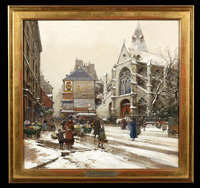 Eugène Galien-Laloue, 'L'Eglise Saint Medard', ca. 1900, Trinity House Paintings