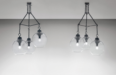 "Luigi Caccia Dominioni, 'Pair of large ""Grappolo"" chandeliers, model no. LS10,' designed 1965, Phillips: Design"
