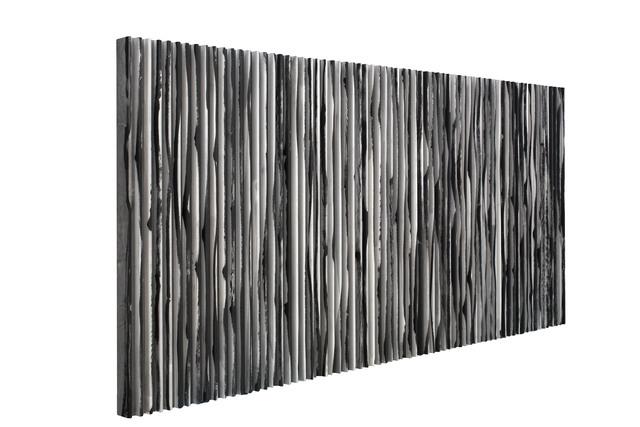 Yu Yang  于洋 (b. 1979), '无序与有序-墨线 Disorder and Order-Ink Line', 2016, Mixed Media, Ink on Paper, Wood, Art Granary