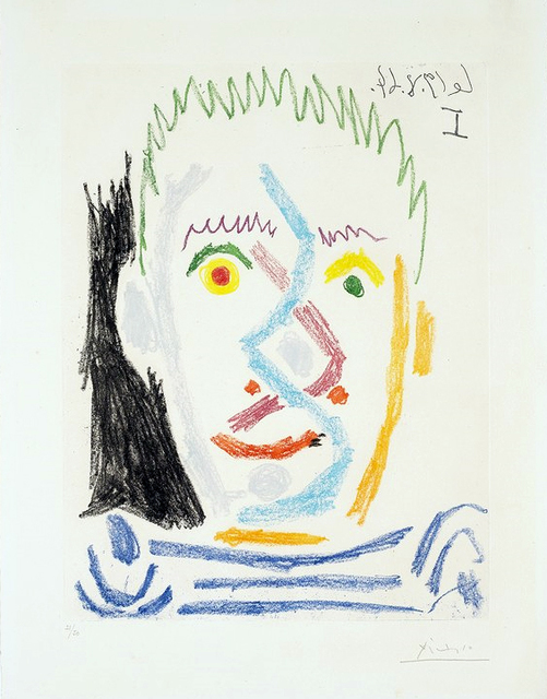 , 'Tete d'homme au maillot raye (Man's Head with Striped Shirt), ,' 1964, Masterworks Fine Art